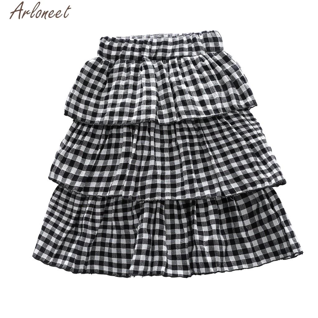[해외]ARLONEET Gingham Check Multilayer Kilt Plaid skirt Girls Fashion Cute Childrens Clothes 19Mar26 Female Skirts For Girls/ARLONEET Gingham