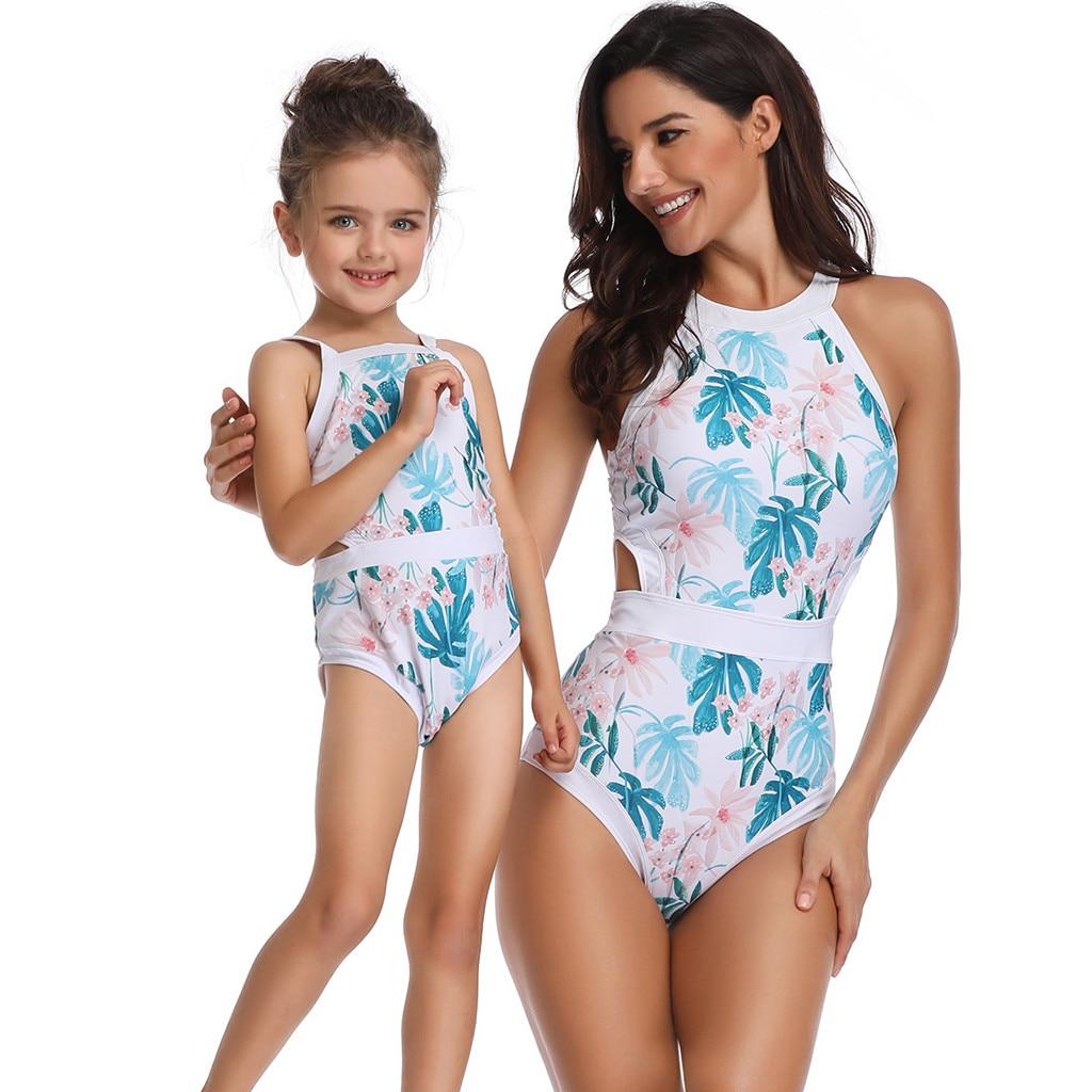 [해외]엄마와 딸 인쇄 섹시한 원피스 수영복 일치하는 수영복 beachwear 엄마와 아이 비키니 입욕 의류 t7 /엄마와 딸 인쇄 섹시한 원피스 수영복 일치하는 수영복 beachwear 엄마와 아이 비키니 입욕 의류 t7