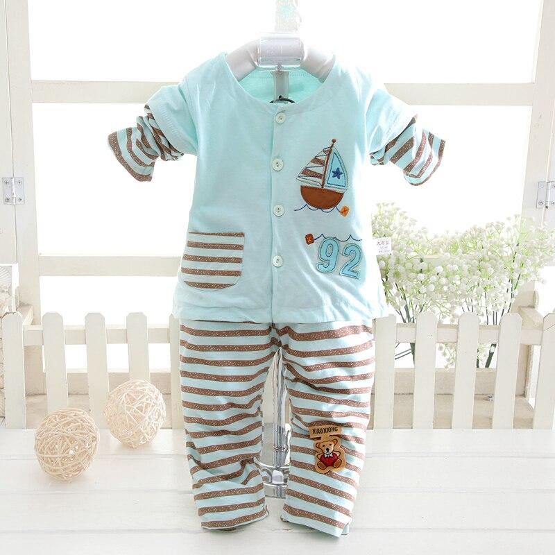 [해외]줄무늬, 만화 무늬 코트와 바지 아기/줄무늬, 만화 무늬 코트와 바지 아기