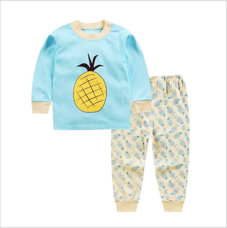 [해외]봄과 가을 겨울 어린이 면화 속옷 세트 가을 옷 두 조각 0-2 년 된 아기에 적합/봄과 가을 겨울 어린이 면화 속옷 세트 가을 옷 두 조각 0-2 년 된 아기에 적합