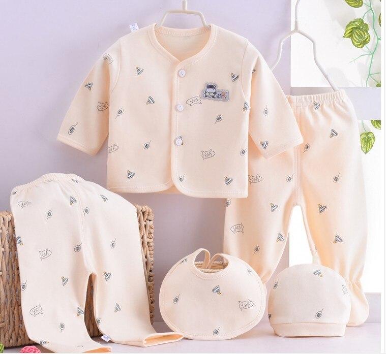 [해외](5pcs/set)cheapest Newborn Baby 0-3M Clothing Set Brand Baby Boy/Girl Clothes 100% Cotton Cartoon Underwear,Free Shipping NT042/(5pcs/se