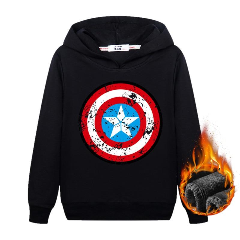 슈퍼 영웅 배트맨 아이언 맨 캡틴 아메리카 까마귀 헐크 스웨터 2018 겨울 따뜻한 벨벳 두꺼운 streetwear
