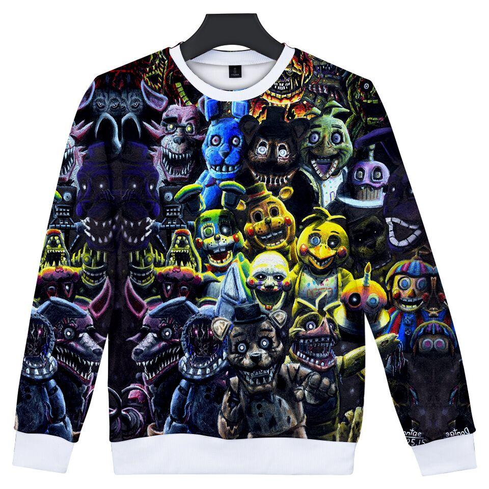 [해외]Freddy 3d에서 childen 5 박 인쇄 된 o-neck 스웨터 gril/boy 패션 streetwear 스웨터 2018 캐주얼 유행 의류/Freddy 3d에서 childen 5 박 인쇄 된 o-neck 스웨터 gril/boy 패션 st