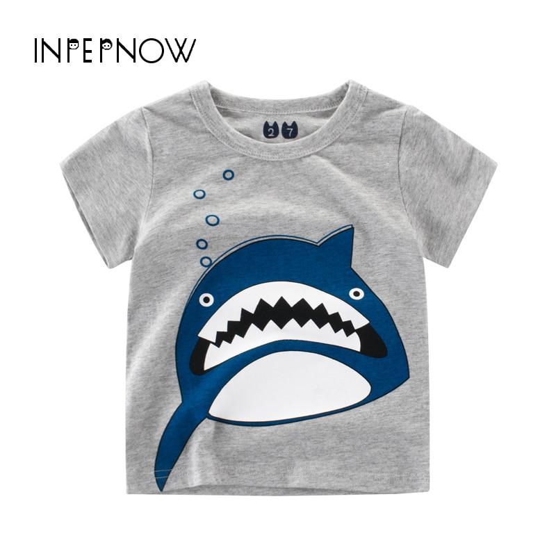 [해외]INPEPNOW 여름 키즈 T 셔츠 소년 티셔츠 상어 동물 프린트 베이비 티셔츠 소녀 셔츠 아동 의류 소녀 DX-CZX33/INPEPNOW 여름 키즈 T 셔츠 소년 티셔츠 상어 동물 프린트 베이비 티셔츠 소녀 셔츠 아동 의류 소녀 DX-CZX3