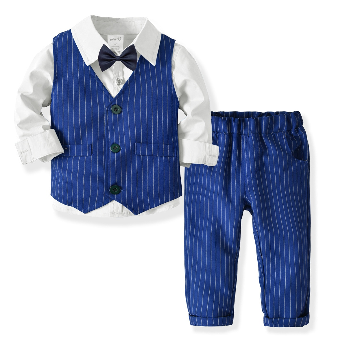 [해외]Oklady 2019 3pcs set autumn children`s leisure clothing sets  boy suit vest gentleman clothes for weddings formal clothing Suit/Oklady 2019 3pcs s
