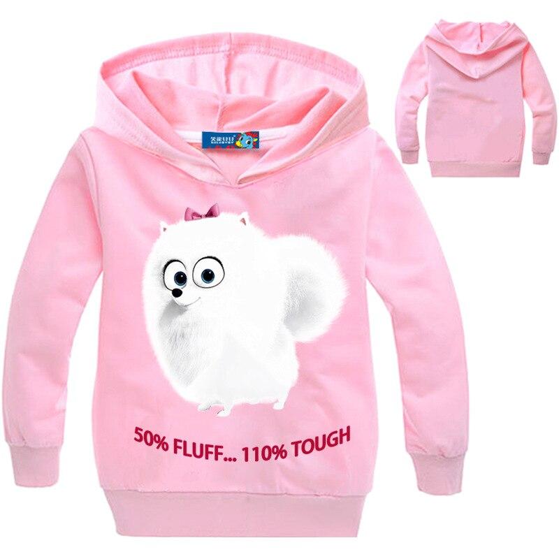 [해외]New children`s 3-16 cotton hoodies for spring 2019 girls` pullovers 3d-printed white fox casual cotton shirts yellow sweatshirts/New children`s 3-
