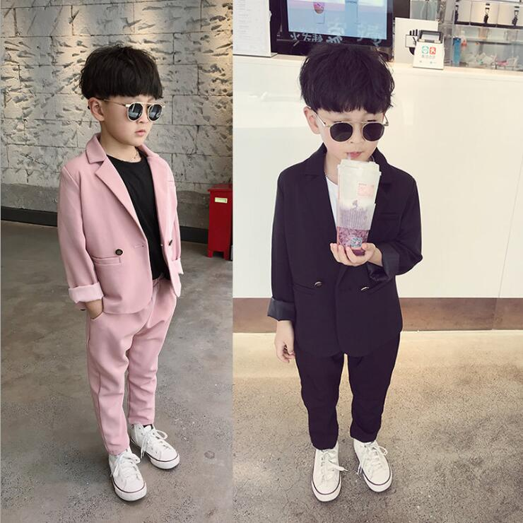 [해외]Children`s Summer 2019 New Pink Suit 3 Net Red Tide 7 Show Small Suit 8 Korean Edition Handsome Party/Children`s Summer 2019 New Pink Suit 3 Net R