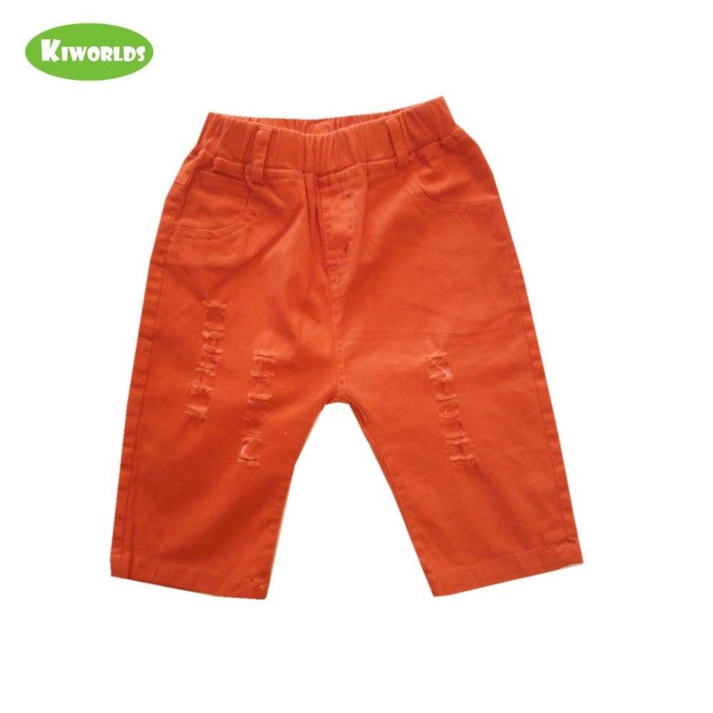 [해외]여름 boy orange 면 special 헤짐 편안한 pant 와 pocket 빈 탄성