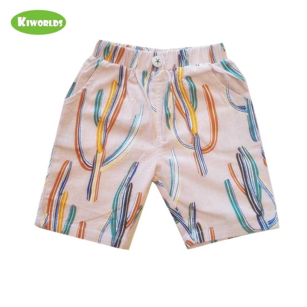 [해외]여름 boy pink 면 컬러 풀 한 cactus (eiffel tower) 패턴 편안한 여유있는 pant 와 pocket