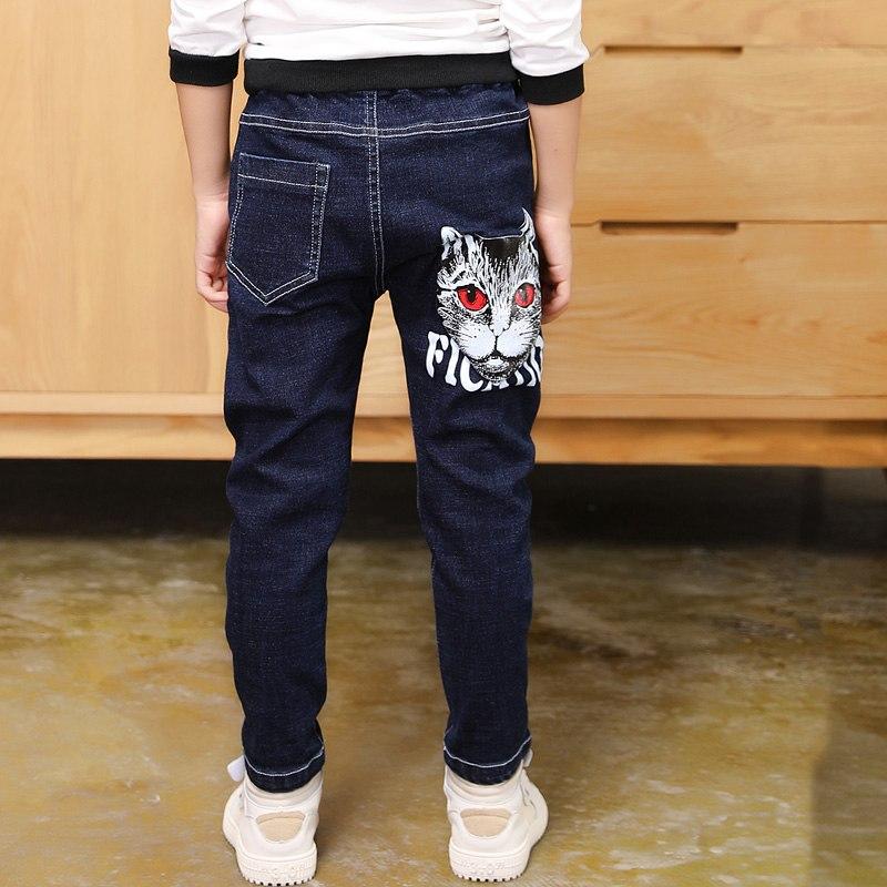 [해외]2019 큰 소년의 청바지 코 튼 패션 틴 에이지 고품질 따뜻한 바지 탄성 바지 전체 길이 크기 100-160