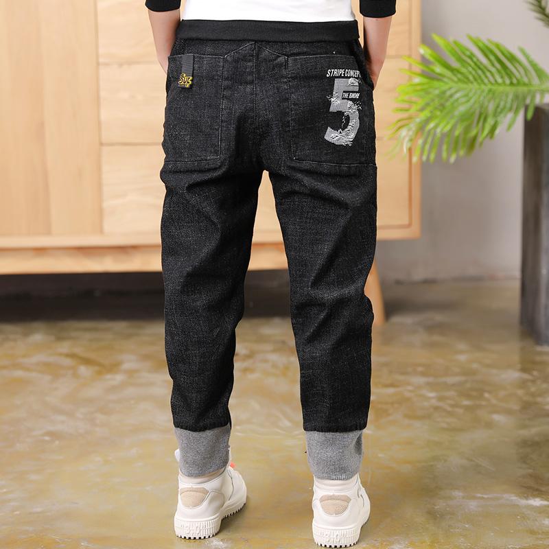 [해외]2019 Big Boy`s Jeans Cotton Fashion Teen-age  boy pants  Elastic Trousers  Full Length Appliques Size 100-160/2019 Big Boy`s Jeans Cotton Fashion