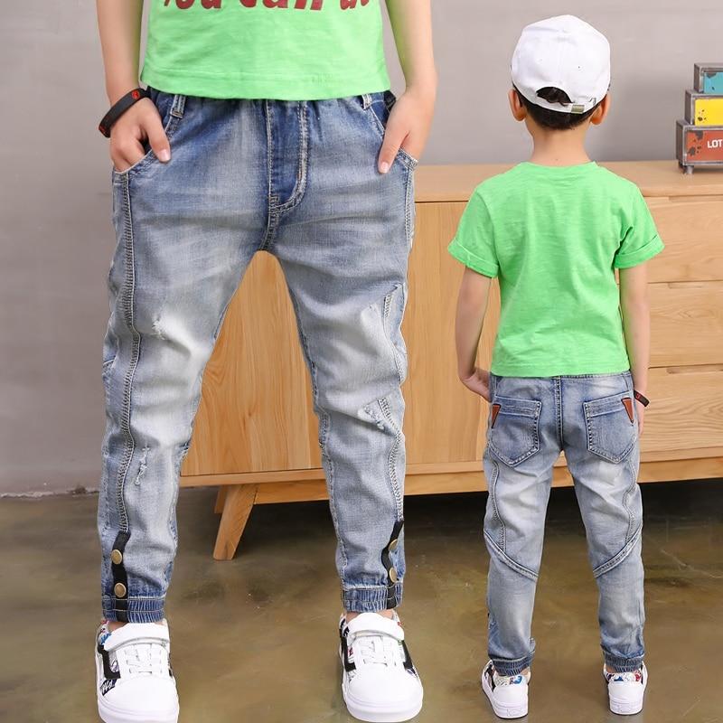 [해외]2019SNew Arrival Full Trousers Long Jeans Cotton Big Boy`s Jeans Cotton Fashion Teen-ages  Pants size 100-160/2019SNew Arrival Full Trousers Long