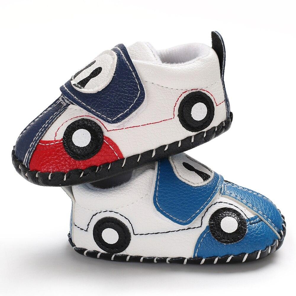 [해외]Lindo bebe zapatos de cuero de la PU nino ninas suela suave antideslizante magia cinta primavera otono nino Prewalker coche de dibujos animados be