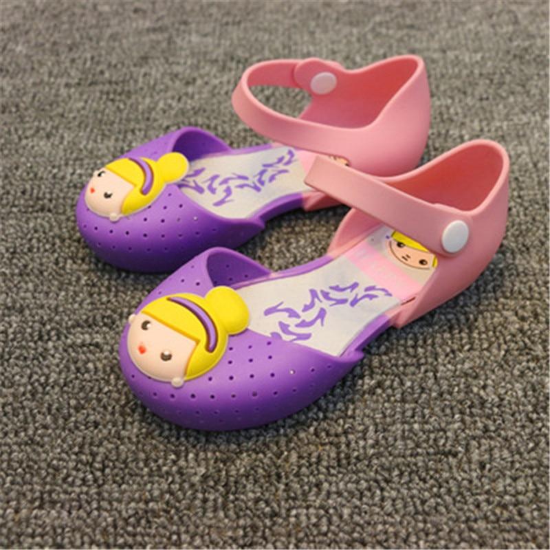 [해외]2017 여름 귀여운 소녀 샌들 젤리 신발 공주 인쇄 신발 방수 비 슬립 통기성 어린이 신발 싸움 색상/2017 여름 귀여운 소녀 샌들 젤리 신발 공주 인쇄 신발 방수 비 슬립 통기성 어린이 신발 싸움 색상