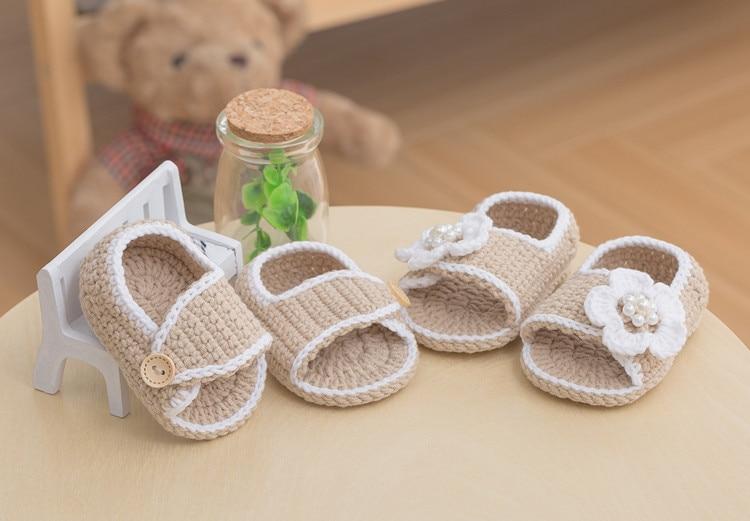 [해외]아기 편직 아기 간단한 샌들 우유 라인 코튼 울 여름 샌들/아기 편직 아기 간단한 샌들 우유 라인 코튼 울 여름 샌들