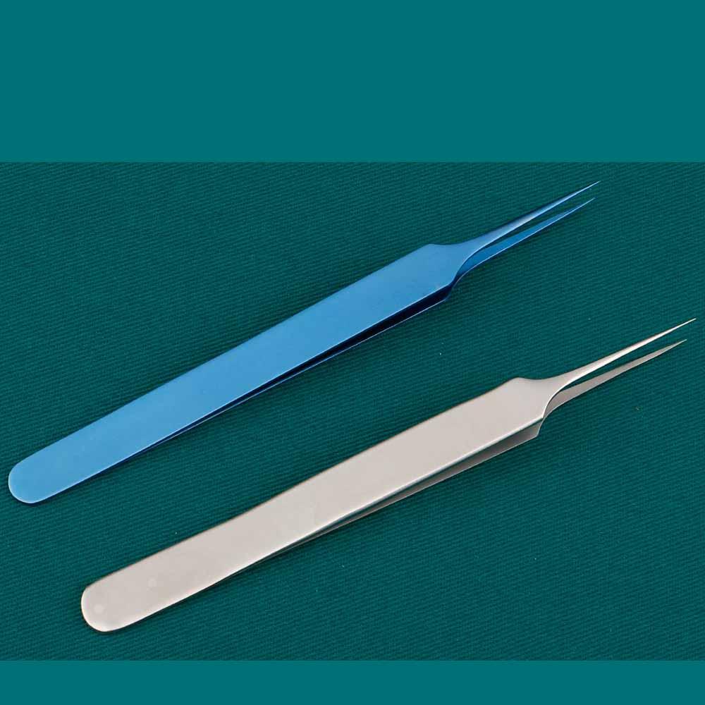[해외]Microscopic ophthalmology 11cm finger pliers nail mandible without damage tweezers precision straight tip mobile phone film smal/Microscopic ophth