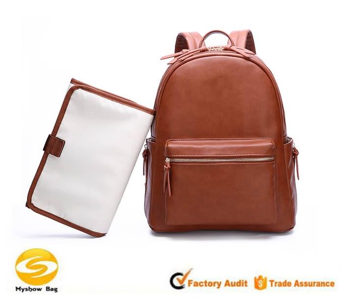 [해외]다기능 가죽 엄마 가방 대용량 모성 및 어린이 배낭 새로운 패션 엄마 가방