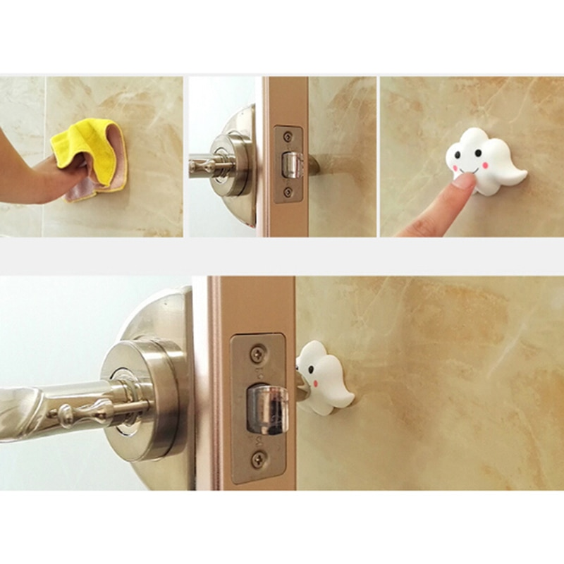 [해외]3Pcs Door Doorknob Back Wall Protector Child safety protection/3Pcs Door Doorknob Back Wall Protector Child safety protection