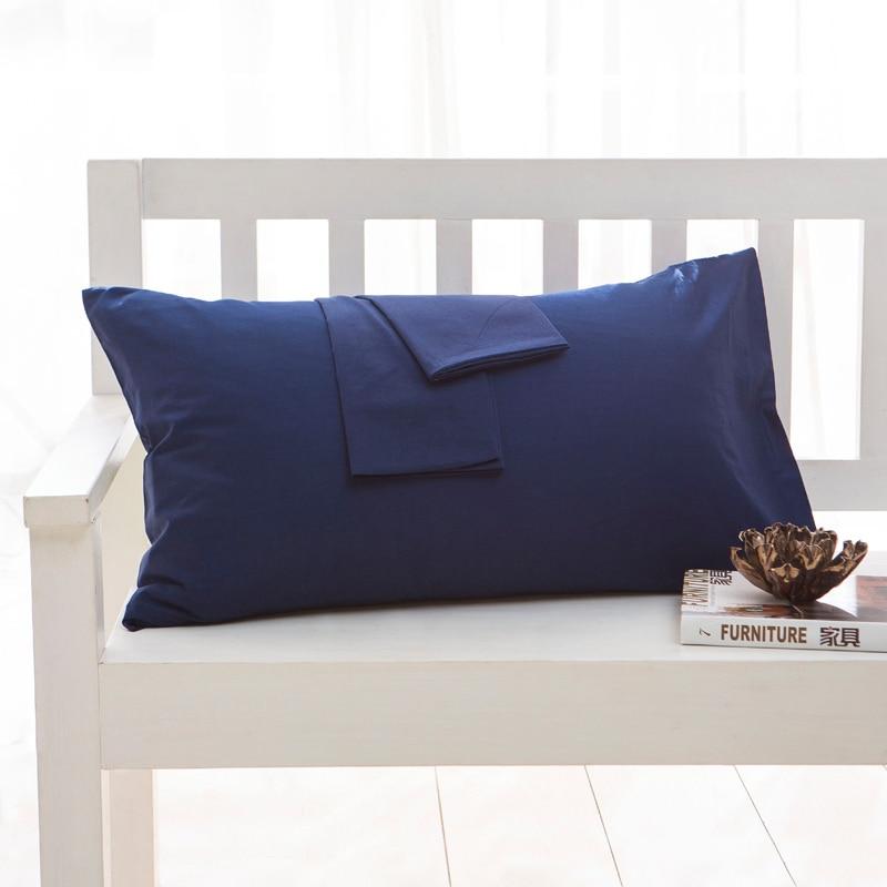 [해외]100% Cotton Solid Color Pillow Case Home One Pair Diagonal Printing Brief Style Pillowcase 40x60cm 50*70cm 50x75cm 50*90cm 48*74/100% Cotton Solid