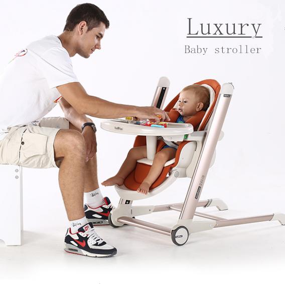 [해외]고급 정신 아기 높은 의자 휴대용 높은 의자 수유 아기 ChairCover 쉬운 접이식 아기 부스터 좌석 Trend Sit-right/Luxury Mental Baby High Chair Portable Highchair Feeding Baby ChairCove