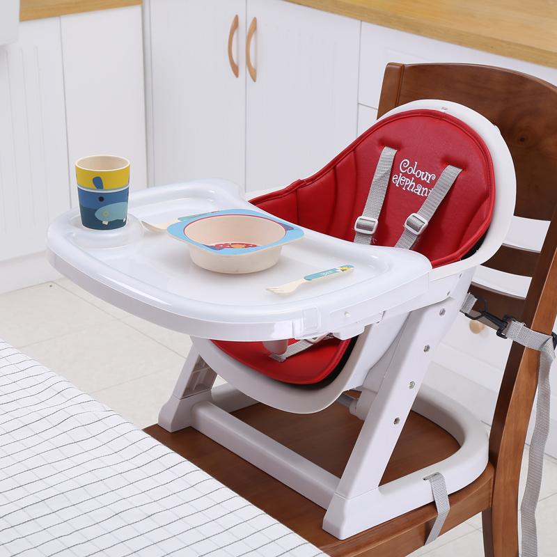[해외]가죽 쿠션 휴대용 조절 아기 키즈 부스터 좌석 6M-36M 아기를의자를 먹이 의자 높은 의자 저녁 식사 의자/Leather Cushion Portable Adjustable Baby Kids Booster Seats Highchair High Chairs Din