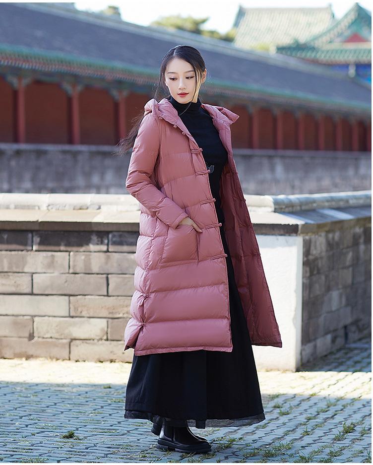 [해외]출산 겨울 코트 재킷 여성 2017 새로운 무릎 길이 플러스 후드 두꺼운 느슨한 겨울 코트 아래로  스타일 플레이트/Maternity winter coat China Style plate down jacket women 2017 new knee-long plus
