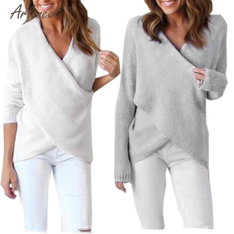 [해외]TELOTUNY 패션 2 색상 Womens 롱 V 넥 긴 Retail 느슨한 니트 스웨터 캐주얼 점퍼 탑스 2017 핫 드롭 출하 OB19/TELOTUNY Fashion 2 Colors Womens Long V-Neck Long Sleeve Loose Knitt
