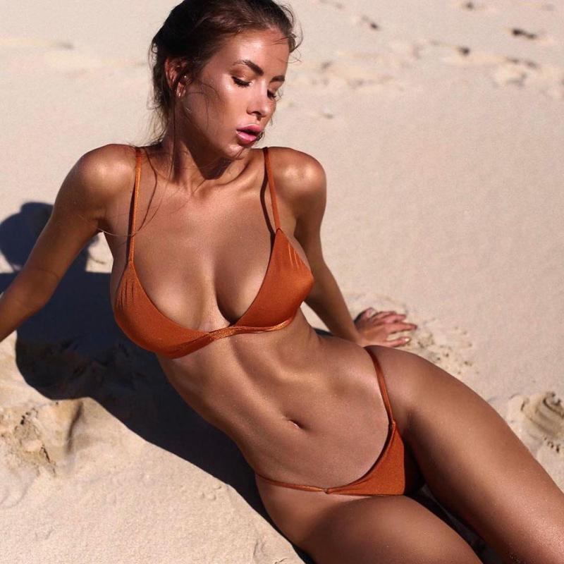 [해외]출산 벨벳 통 비키니 세트 황금 Grassgreen 수영복 여성 수영복 브라질 비치웨어 수영복 XV3/Maternity Velvet Thong Bikinis Sets Golden Grassgreen Swimwear Women Swimsuit Brazilian B