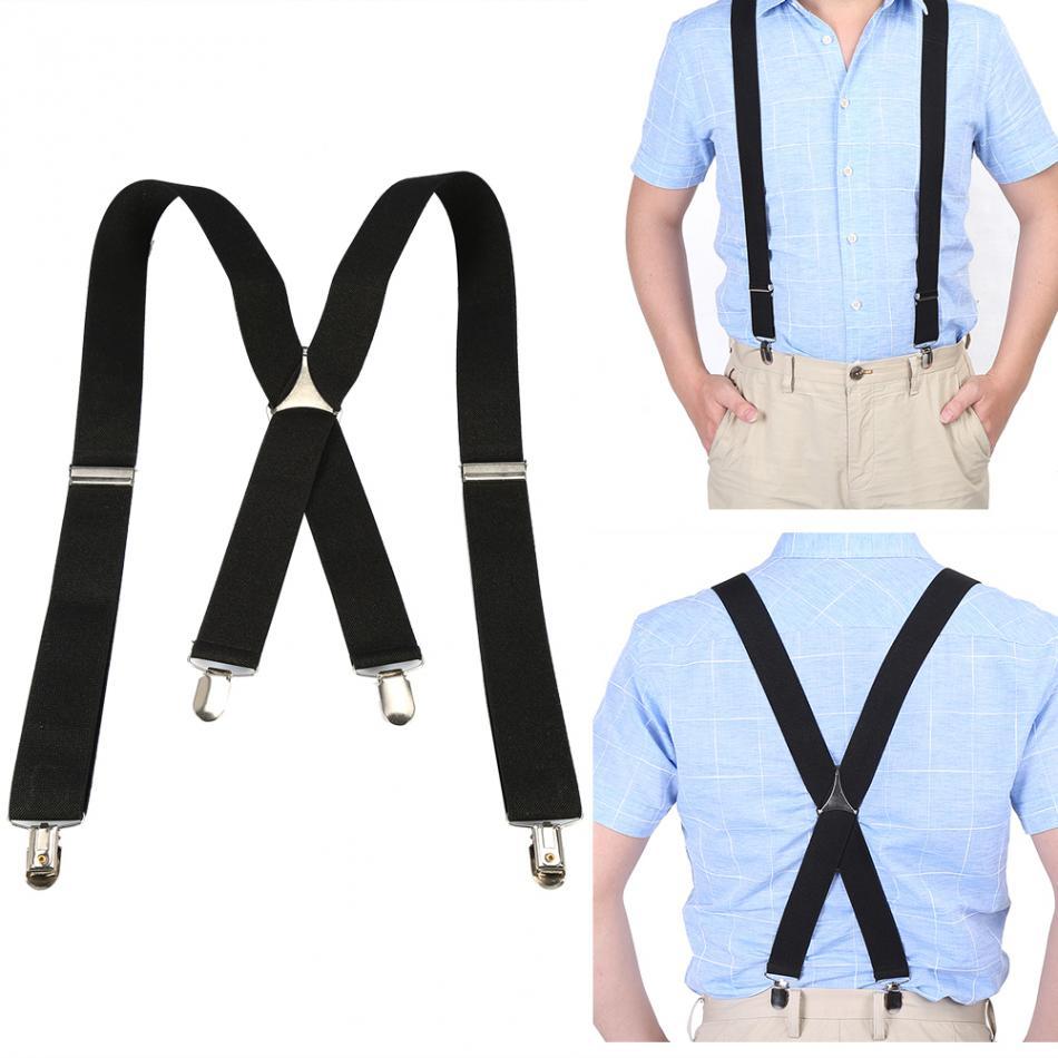 [해외]탄성 셔츠 서스펜더 tirantes hombre bretelle pantalon3.5cm 너비 남성 모양의 교정기 조정 가능한 4 클립 벨트 클립형 교정기/Elastic Shirt Suspenders tirantes hombre bretelle pantalon3