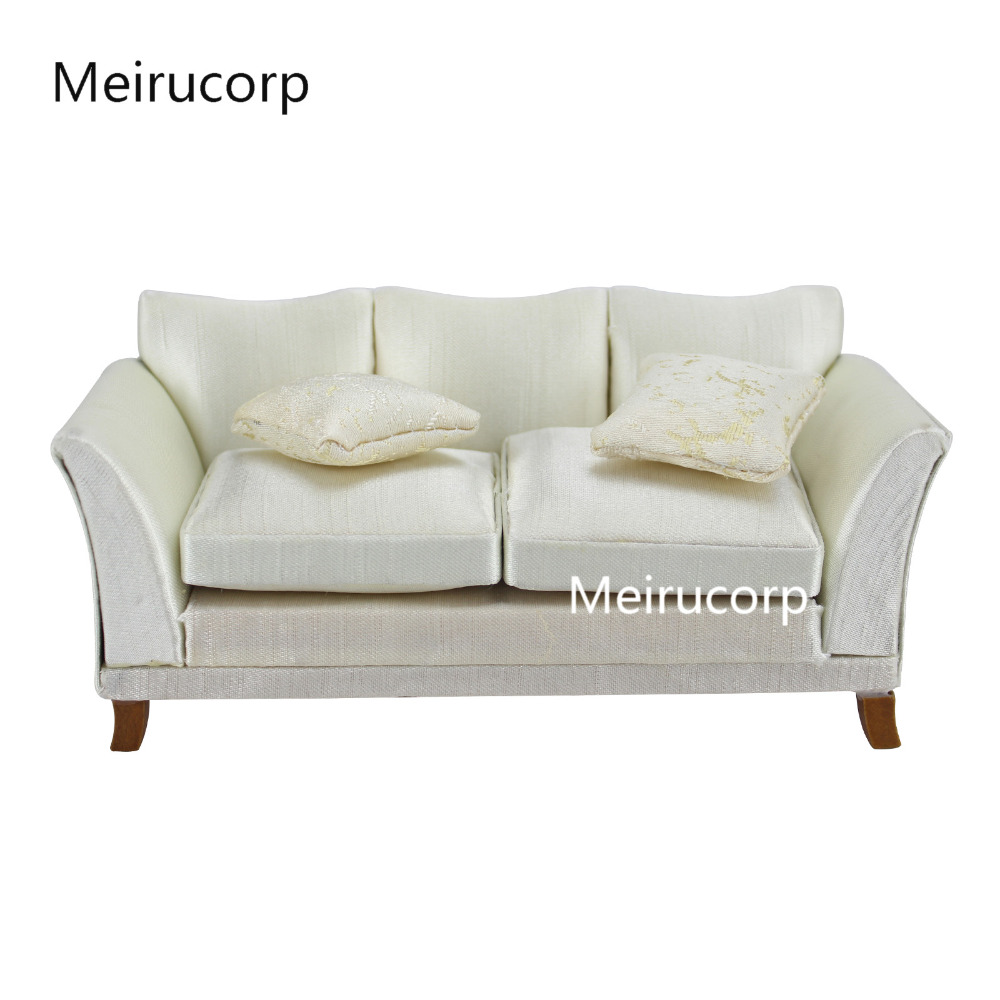 [해외]인형 집에 대 한 괜 찮 아 요 1/12 규모의 인형 집 미니어처 가구 사랑스러운 소파 & 베개/Fine 1/12 scale dollhouse miniature furniture lovely couch&pillows for dollhouse