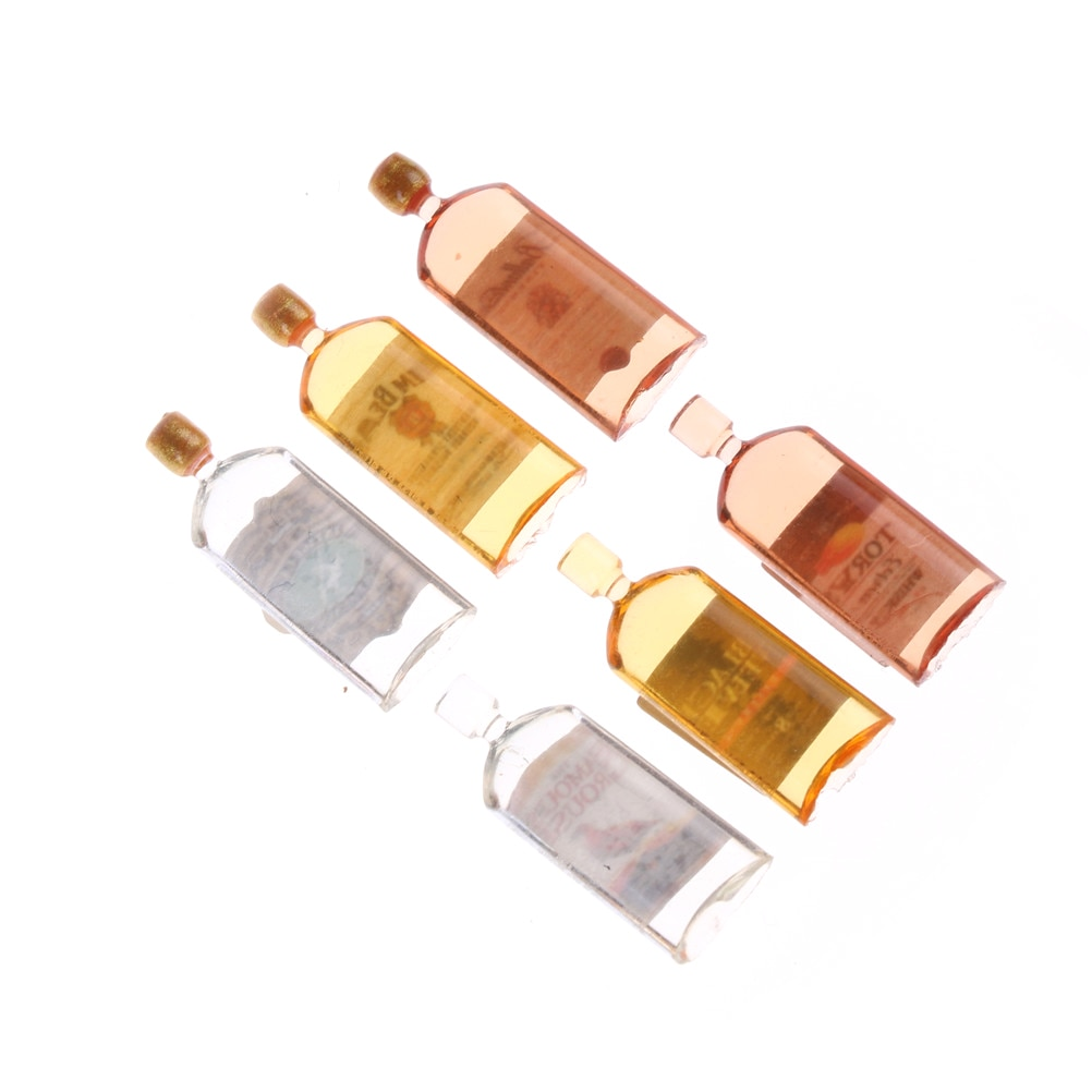 [해외]가정 장식 6PCS 인형 집 Miniature Accessories 미니 위스키 병 완구 1시 12 분에 대한 인형 집/Home Decor 6PCS Doll House Miniature Accessories Mini Whiskey Bottles Toys for