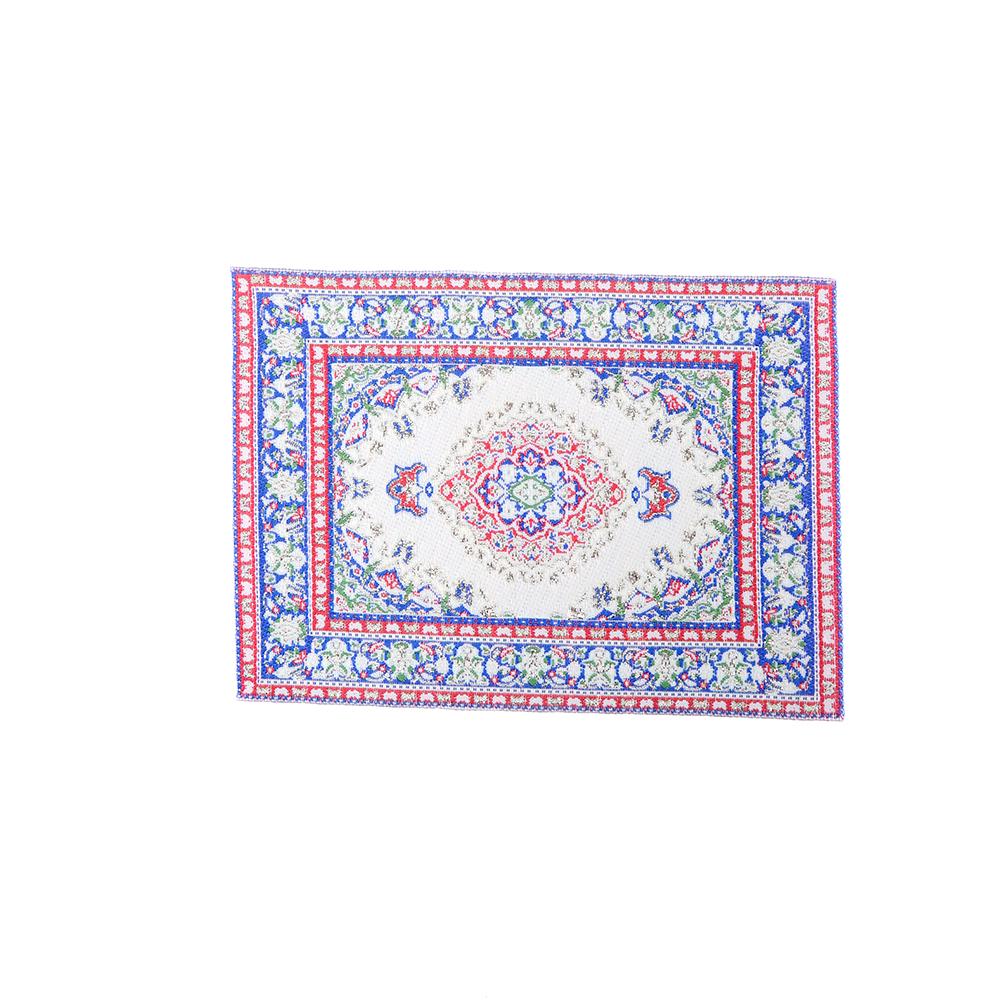 [해외]15 * 10cm 1:12 인형 집 미니어처 수 놓은 카펫 꽃 양탄자 바닥 겉옷 선물 미니어처 공예품/15*10 cm 1:12 Dollhouse Miniature Embroidered Carpet Woven Floral Rug Floor Coverings Gif