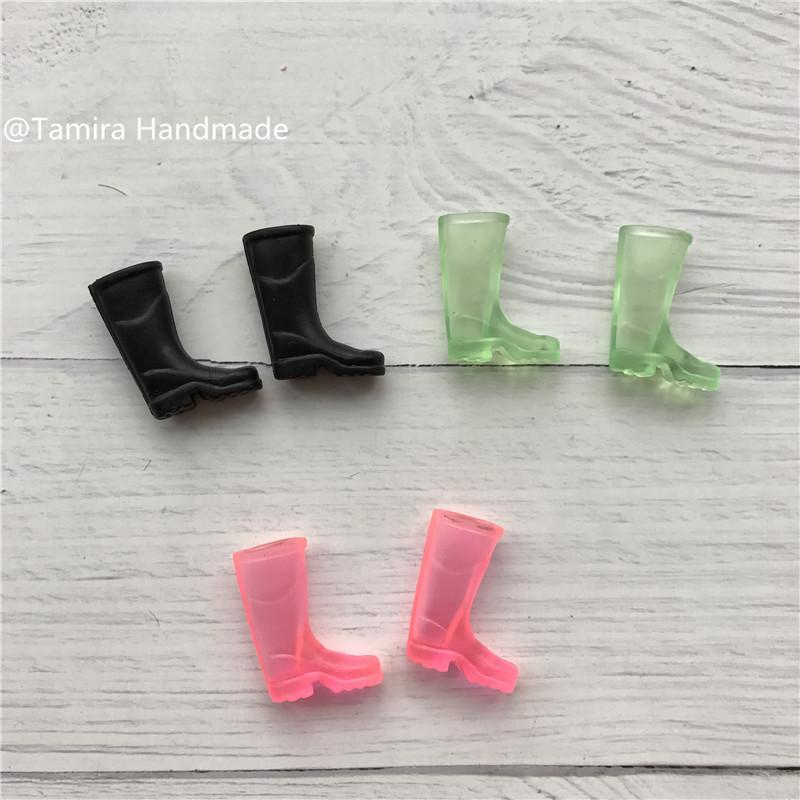 [해외]손으로 키즈 미니어처 귀여운 요정 부츠 이빨 요정 액세서리 3 색 실리콘 인형 완구에 대 한 좋은 선물을했다/Hand Made Fairy door great gift for Kid miniature Cute Soft Rain Boots Teeth Fairy Ac