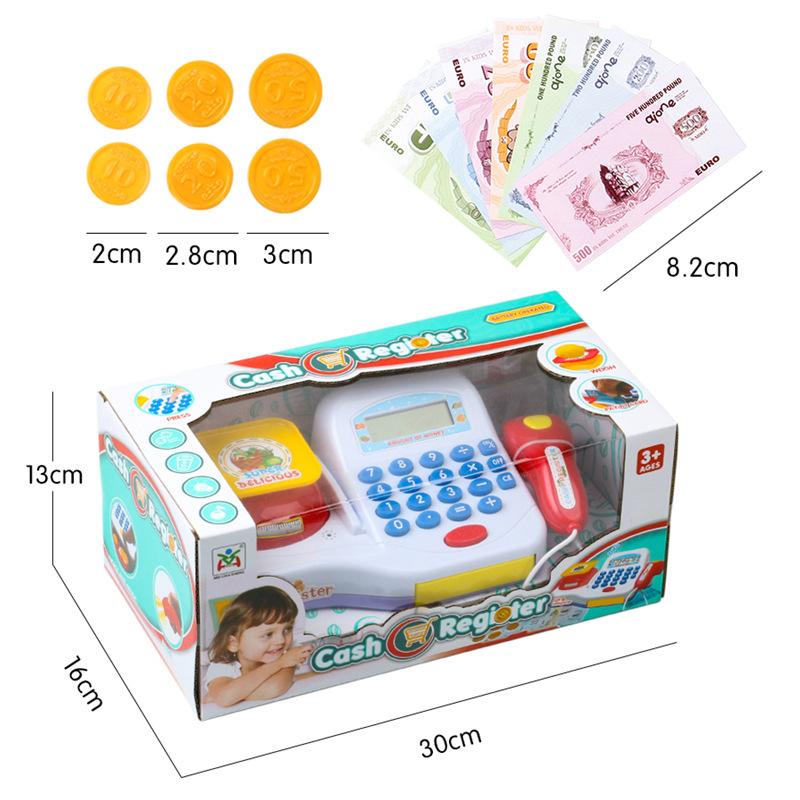 [해외]어린이 플라스틱 현금 등록 캐셔 장난감 척 놀이 어린이 조기 교육 장난감 쇼핑 카드 소년 소녀를선물/Kids Plastic Cash Register Cashier Toy Pretend Play Children Early Educational ToyShopping