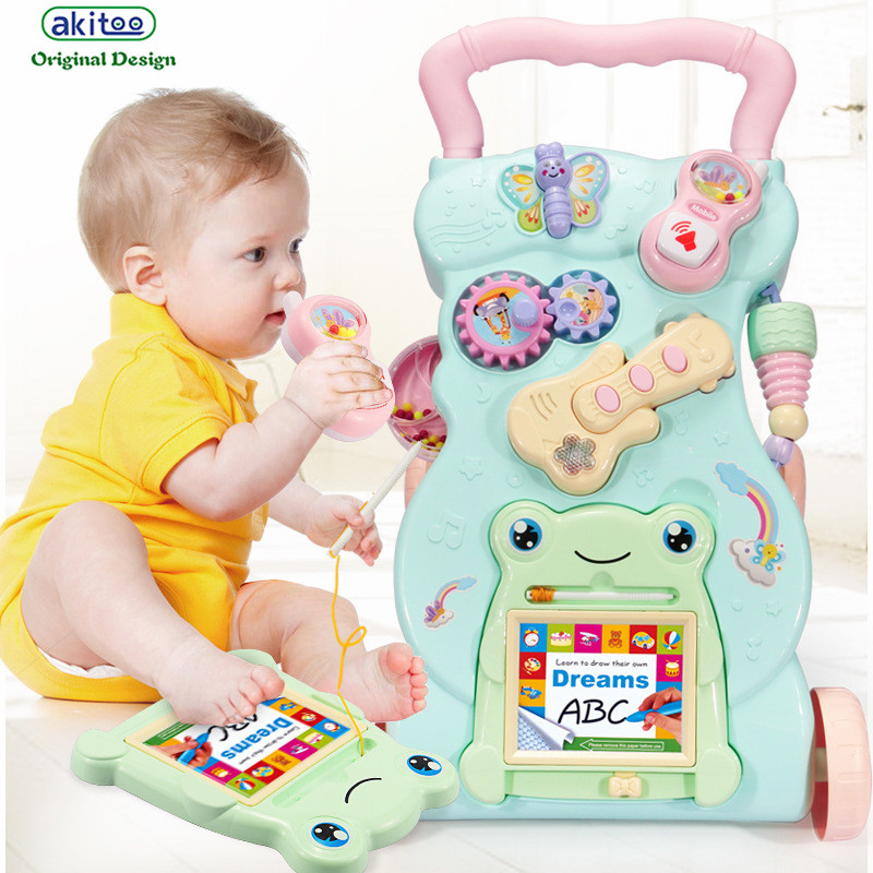 [해외]akitoo 베이비 다기능 나비 전화 음악 기타 워커 트롤리 장난감 베이비 뚜렛 워커 WalkerWater 탱크 교육/akitoo Baby Multi-function Butterfly Phone Music Guitar Walker Trolley Toy Baby