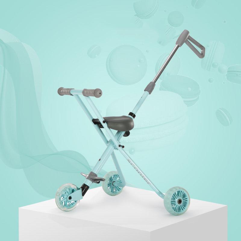 [해외]유아 빛나는 아이들 세발 자전거 알루미늄 합금 간단한 빛 접는 유모 빠른 접기/Infant Shining  Children Tricycle Aluminum Alloy Simple Light Folding Stroller Quick Folding