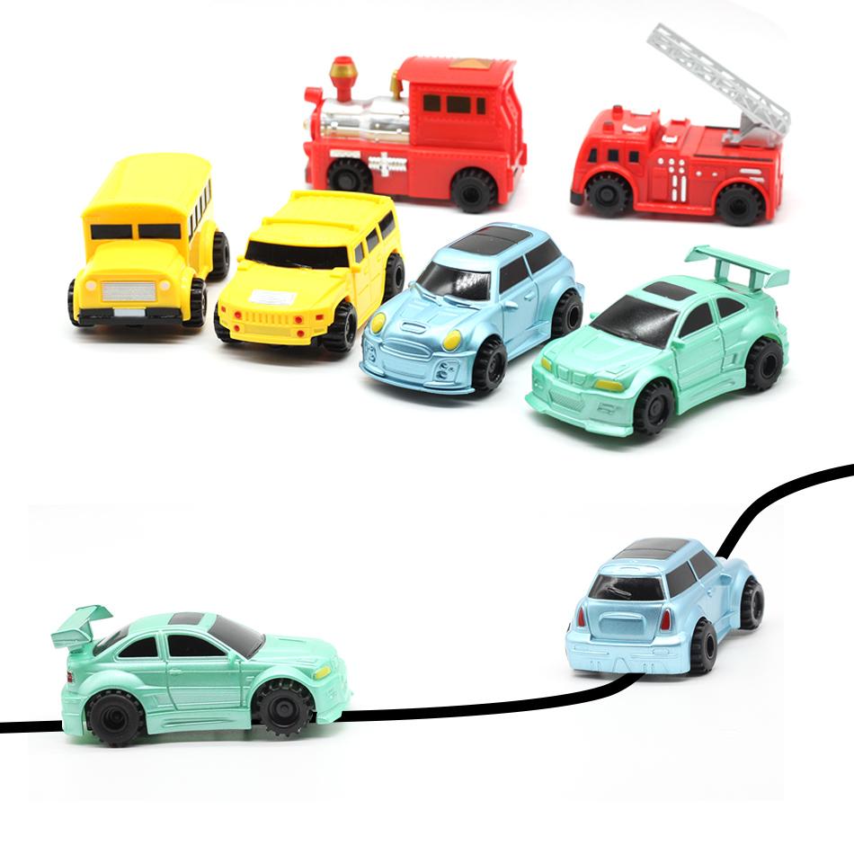 [해외]7 스타일 매직 펜 유도 자동차 트럭 그려진 검은 선 추적 미니 장난감 공학 차량 교육 장난감 따라/7 Style Magic Pen Inductive Car Truck  Follow Any Drawn Black Line Track Mini Toy Engineer