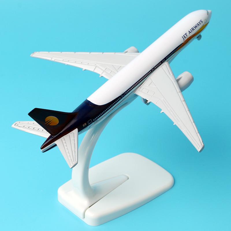 [해외]16cm 합금 금속 인도 항공 JET 항공 보잉 777 B777 항공기 모델 비행기 모델 대기 항공기 선물/16cm Alloy Metal Indian Air JET Airways Boeing 777 B777 Airlines Plane Model Airplane