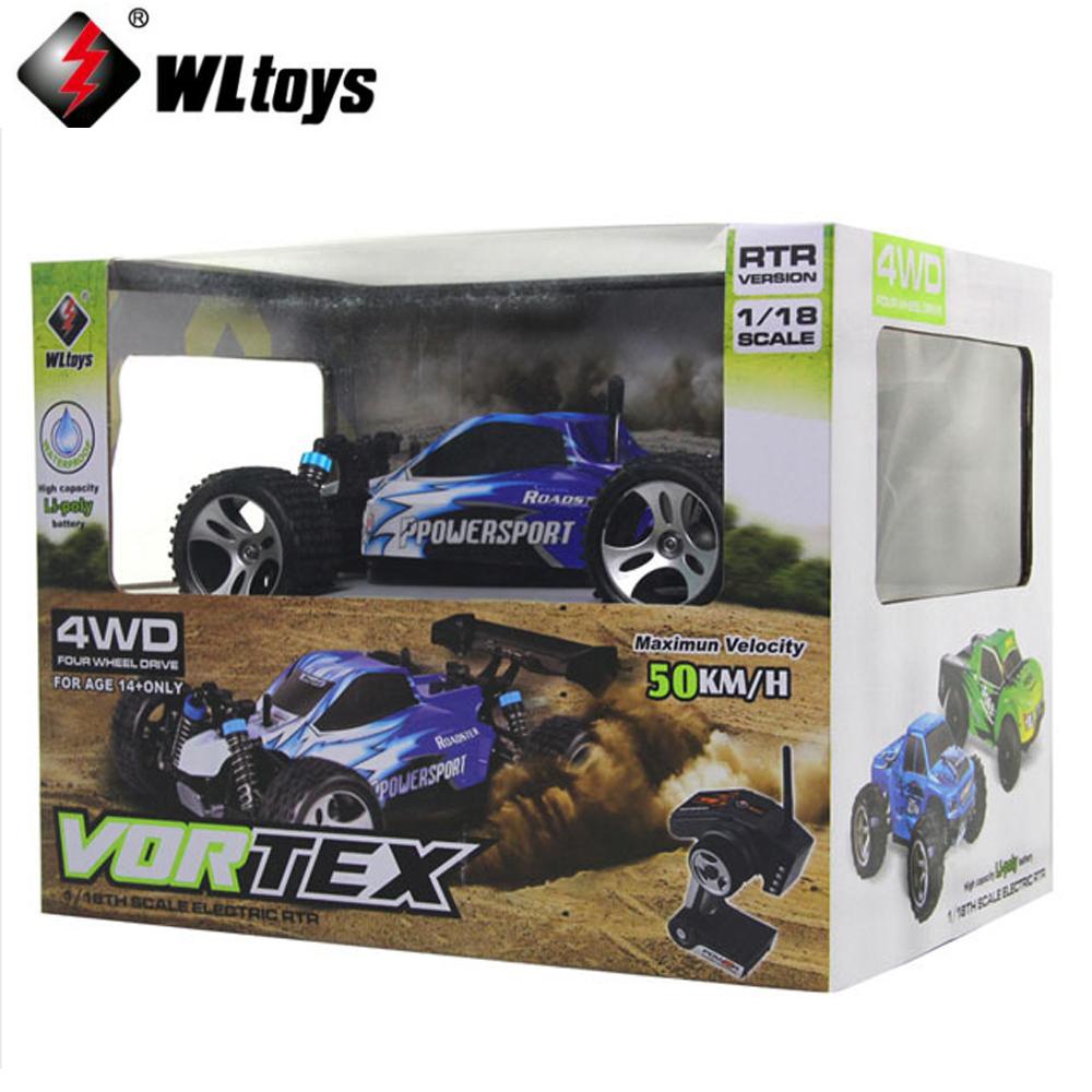 [해외]1 세트 Wltoys A959 1:18 원격 제어 차량 오프로드 레이싱 카 고속 4 륜구동 50km / h 스턴트 SUV 장난감/1 set Wltoys A959 1:18 remote control car Off-road Racing Car High Speed 4