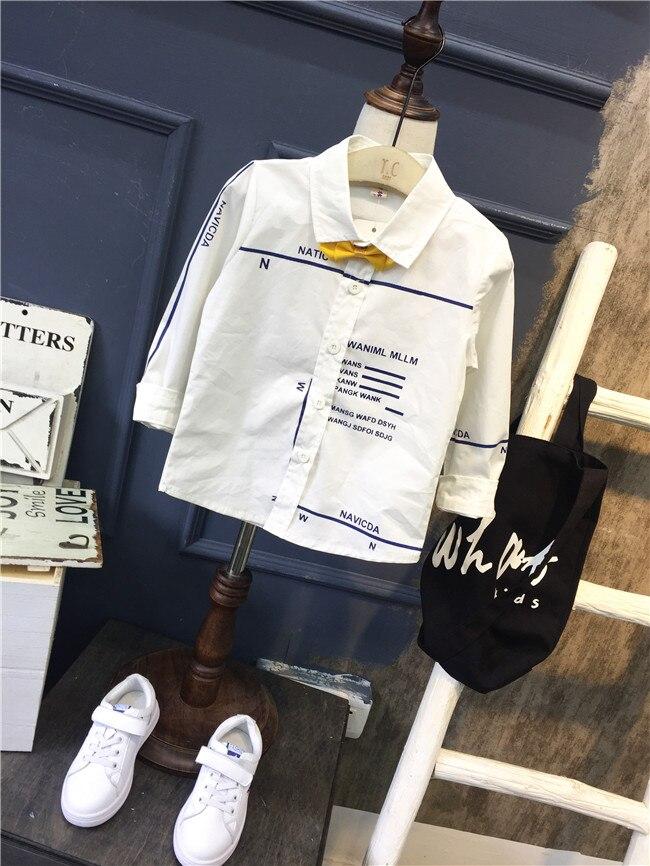 [해외] Children`s wear and small boy`s wear long sleeve shirt 2018 new spring and autumn  pure cotton boy shirt top/ Children`s wear and small boy`s wea