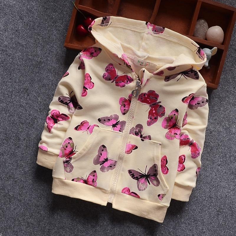 [해외]Bibicola 아기 소녀 겉옷 가을 패션 유아 어린이 캐주얼 후드 나비 재킷 코트 유아 어린이 면화 의류/Bibicola 아기 소녀 겉옷 가을 패션 유아 어린이 캐주얼 후드 나비 재킷 코트 유아 어린이 면화 의류