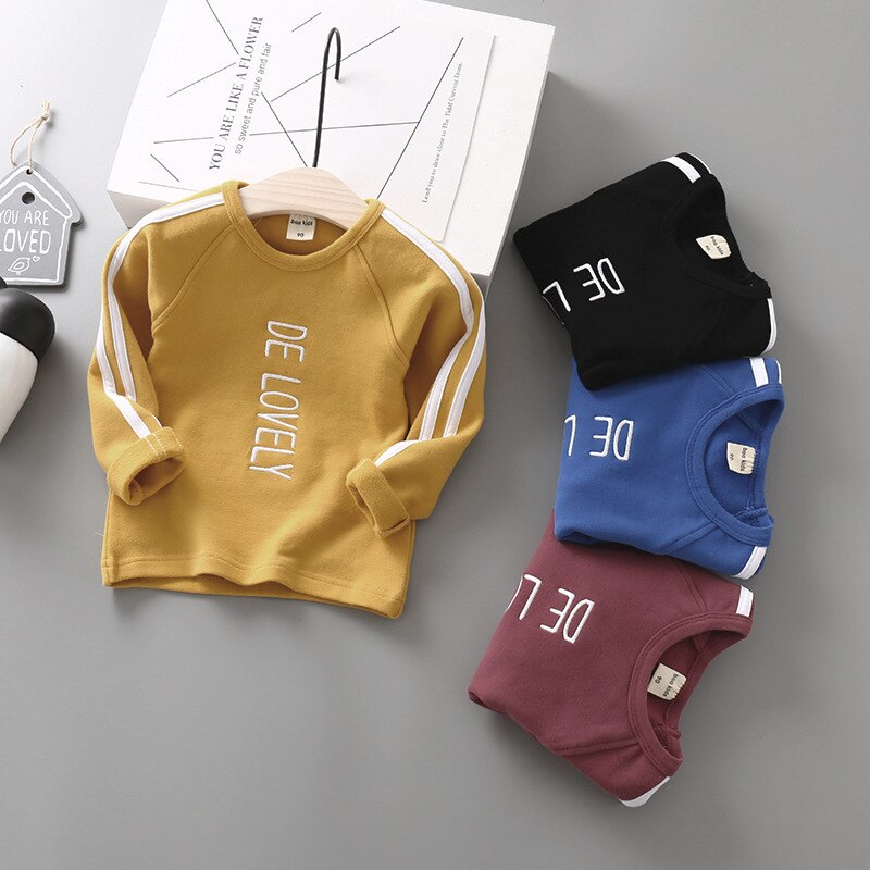 [해외]Children`s Wear Autumn T-shirt Boy Letter Tops 2019/Children`s Wear Autumn T-shirt Boy Letter Tops 2019