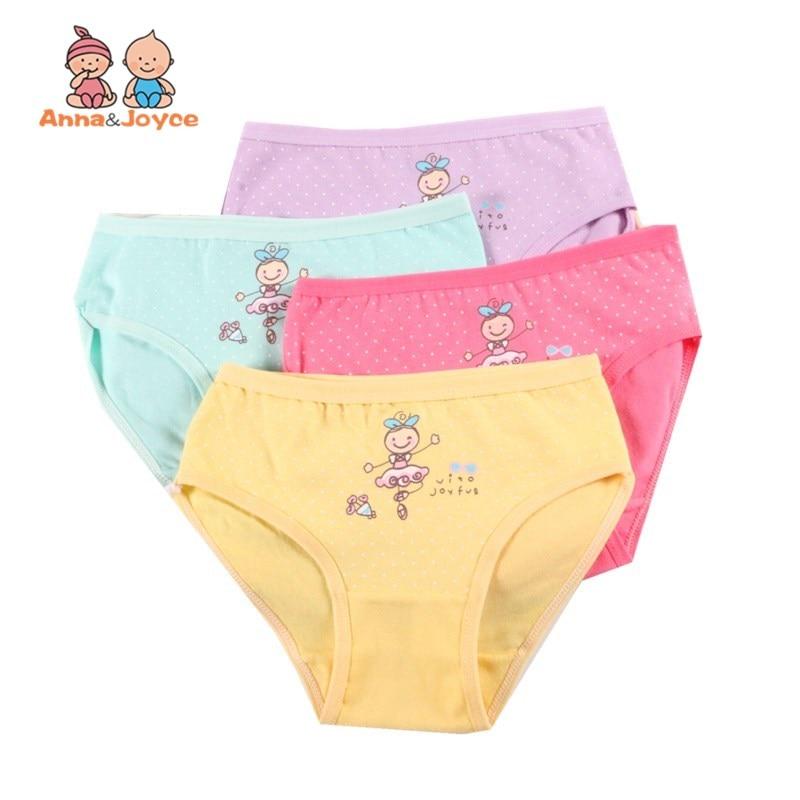 [해외]12 Pcs/lot 2-10 Years Kids Hot 100% Cotton Dot Cartoon Pattern Candy Colors Triangle Girls Underwear/12 Pcs/lot 2-10 Years Kids Hot 100%