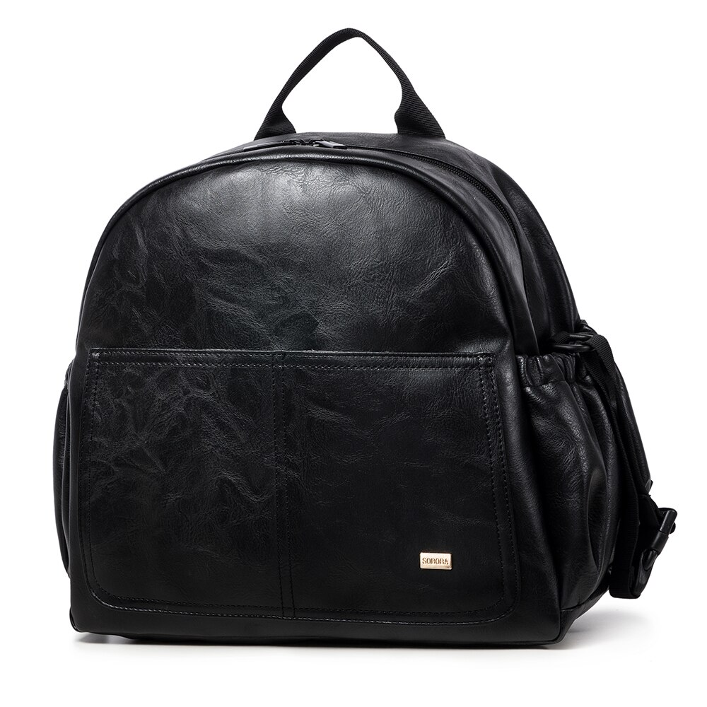 [해외]어머니를위한 패션 출산 기저귀 변경 가방 블랙 대용량 패션 기저귀 가방 2 스트랩 아기를위한 여행 배낭