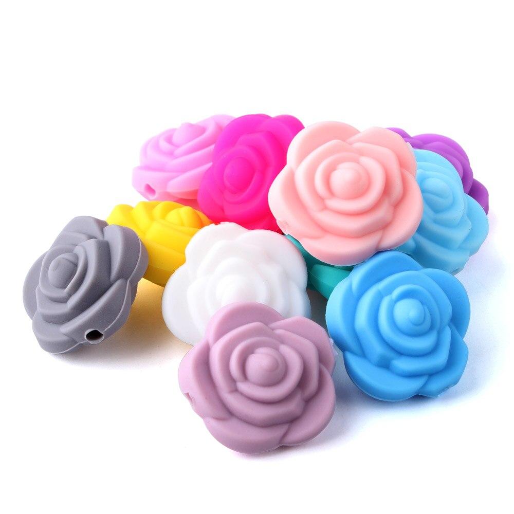 [해외]계속 성장 12 pcs 20mm 양면 장미 꽃 실리콘 구슬 목걸이에 대 한 씹는 장난감 치아 실리콘 bpa 무료/계속 성장 12 pcs 20mm 양면 장미 꽃 실리콘 구슬 목걸이에 대 한 씹는 장난감 치아 실리콘 bpa 무료