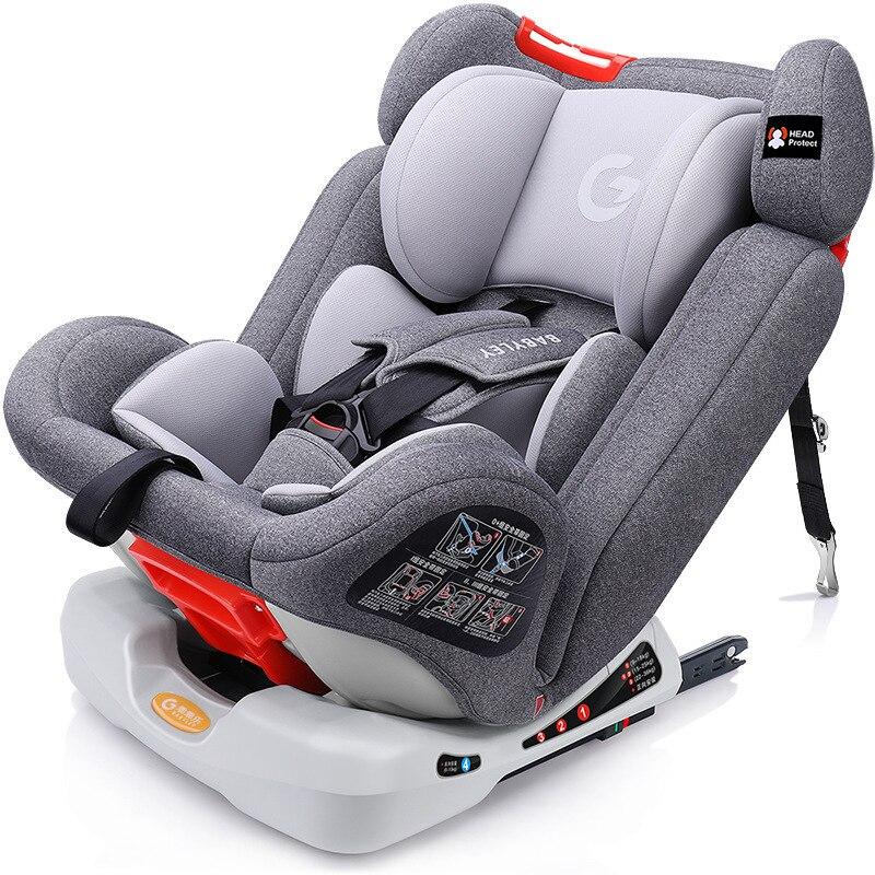 [해외]New Child Car Safety Seats With ISOFIX Connector Large Angle Adjust Comfort Interface Car Seats for 9-36KG  And 0-12 Y/New Child Car Saf