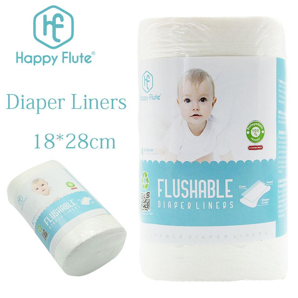 [해외]Happyflute 100 % 생분해 성 & amp; 플러시 가능 기저귀 라이너 일회용 천 기저귀 라이너 롤당 100 장, 18 * 28cm/Happyflute 100% Biodegradable & Flushable diaper liners dis