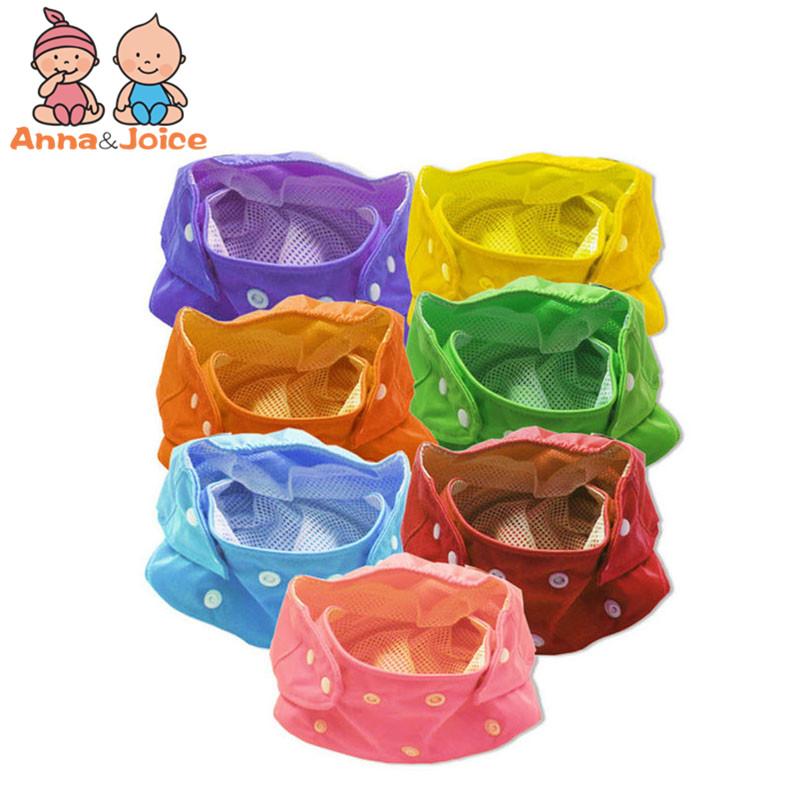 [해외]6pc / lot 아기 기저귀 / 어린이 천 기저귀 / 재사용 기저귀 / 조절 식 기저귀 커버 / 여름에 빨 수있는/6pc/lot  Baby Diapers/Children Cloth Diaper/Reusable Nappies/Adjustable Diaper Co