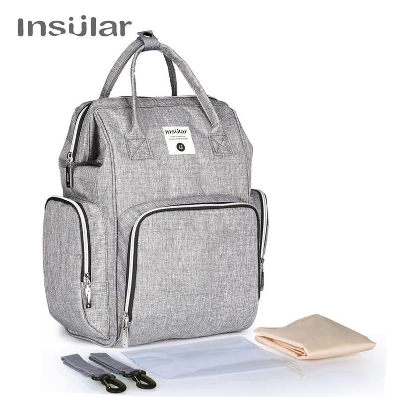 [해외]새로운 기저귀 가방 변경 패드 후크 티슈 상자 엄마 기저귀 가방 대용량 아기 가방 여행 가방 엄마 배낭/New Diapering Diaper Bag Change Pad Hooks Tissue Box Mummy Nappy Bag Large Capacity Baby