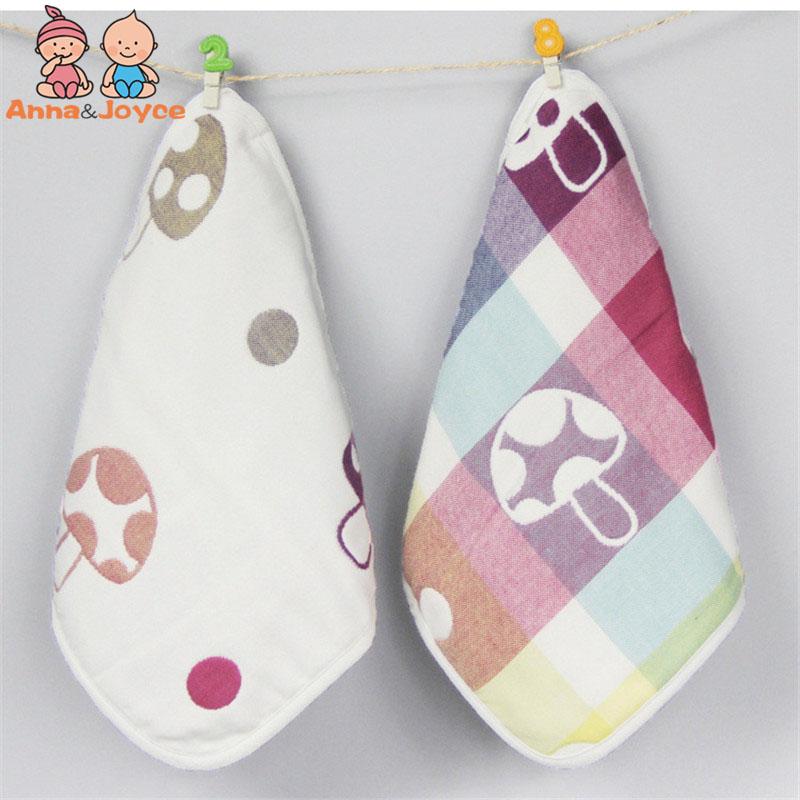 [해외]면화 버섯 카드 천 면화 거즈 사각형 육아 타액 타월 걸이 버클 두 PC의 6 층 TRQ1193/Cotton mushroom card cloth Six layers of cotton gauze square Infant saliva towel hang buckle